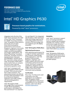 Intel® HD Graphics P630 Performance Guide