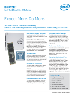 Intel® Solid State Drive 540s Series Product Brief