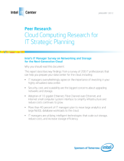 Cloud Computing Research for IT Strategic Planning