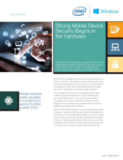 Mobile Device Security with Windows* 8.1 Begins in the Hardware