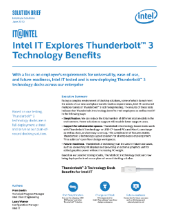 Intel IT Explores Thunderbolt™ 3 Technology