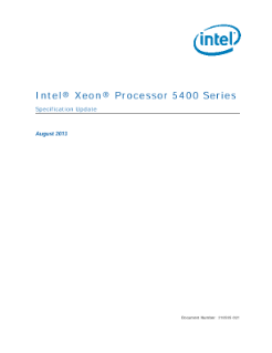 Intel® Xeon® Processor 5400 Series  Specification Update