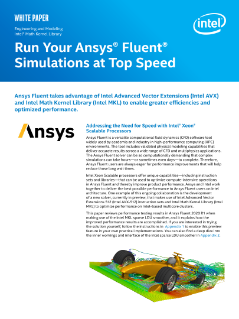 Ansys Fluent Simulations at Top Speed on Intel