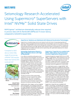 Supermicro and Intel Help Accelerate Seismology Research